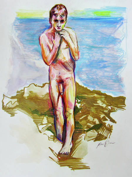 Painting - Jeremy At The Beach by Rene Capone