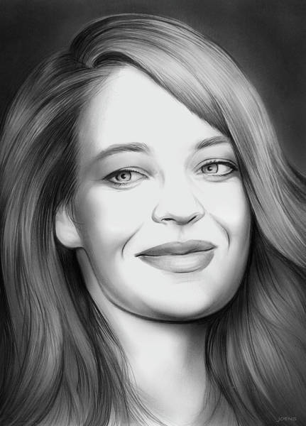 Actress Drawing - Jeri Ryan by Greg Joens