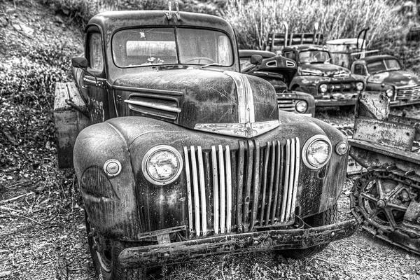 Photograph - Jerome Az Old Truck Junkyard Arizona Rusted Trucks by Toby McGuire
