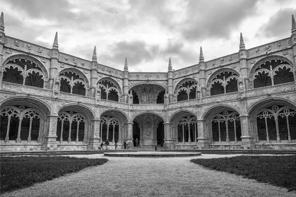 Photograph - Jeronimos Monastery Cloister Lisbon by Joan Carroll