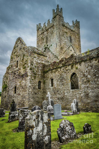 Wall Art - Photograph - Jerpoint Abbey And Old Gravestones by RicardMN Photography