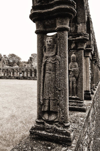Jerpoint Abbey Cloister Stone Figures Art Print