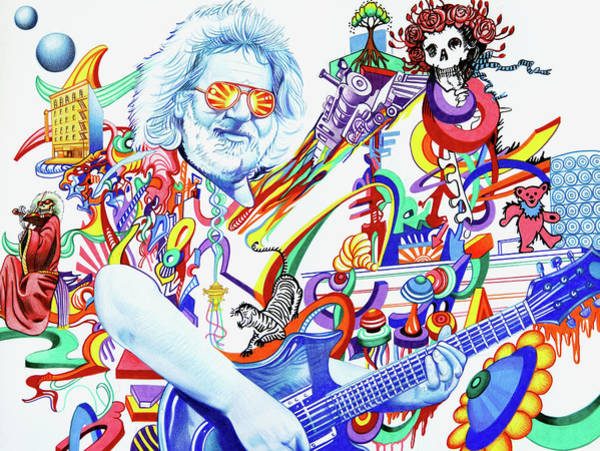Wall Art - Drawing -  Jerry Garcia-captain Trips by Joshua Morton