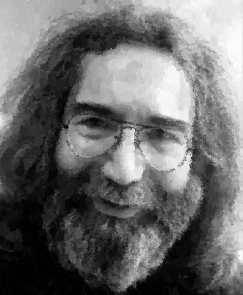 Progressive Rock Painting - Jerry Garcia Portrait by Samuel Majcen