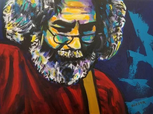 Wall Art - Painting - Jerry Garcia by Stuart Glazer