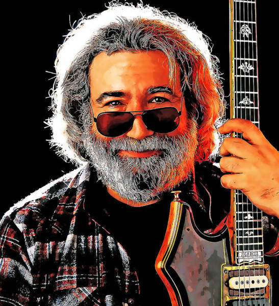 Wall Art - Mixed Media - Jerry Garcia The Grateful Dead by Marvin Blaine