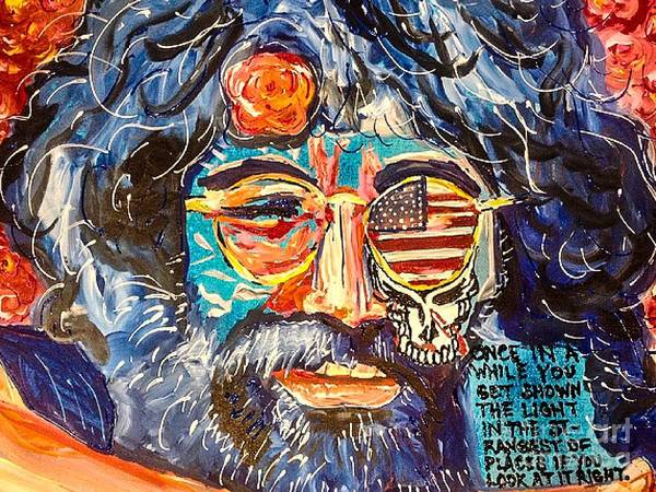 Deadhead Wall Art - Painting - Jerry Garcia - The Grateful Dead by Paula Baker