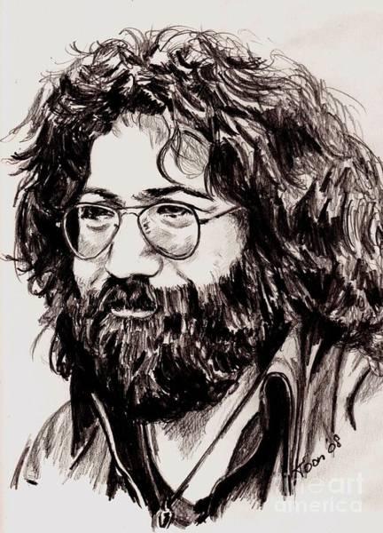 Drawing - Jerry Garcia by Toon De Zwart