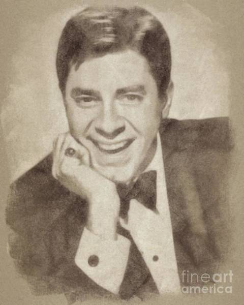Wall Art - Drawing - Jerry Lewis, Actor And Comedian by John Springfield