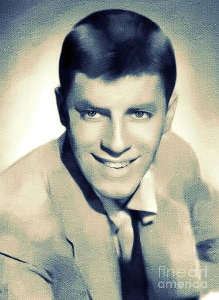Wall Art - Painting - Jerry Lewis, Hollywood Legend by Mary Bassett