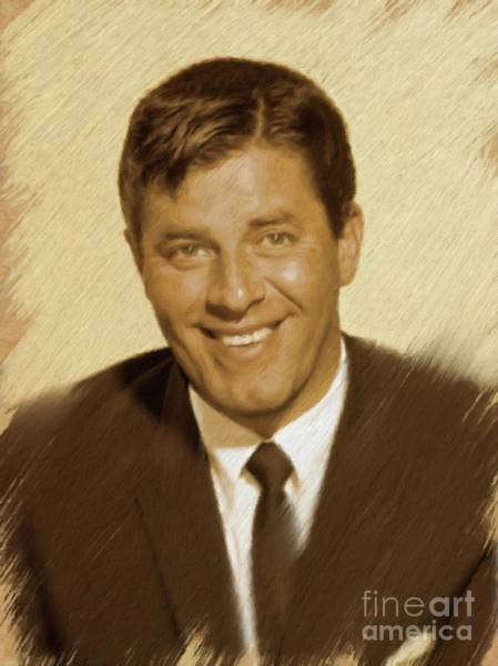 Wall Art - Painting - Jerry Lewis, Vintage Actor by Mary Bassett