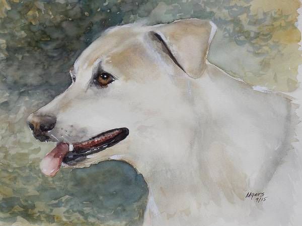 Assistance Painting - Jerry, Watercolor Painting by David K Myers