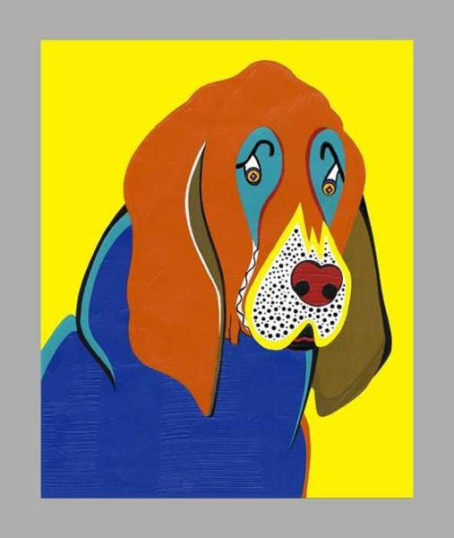Painting - Jerry The Bloodhound   by Ruby Persson