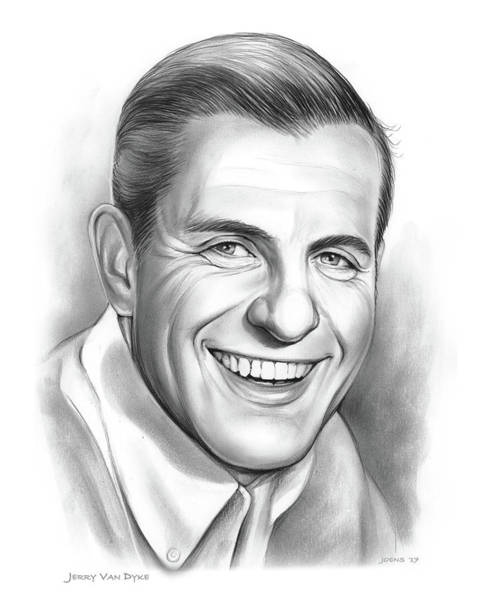 Wall Art - Drawing - Jerry Van Dyke by Greg Joens