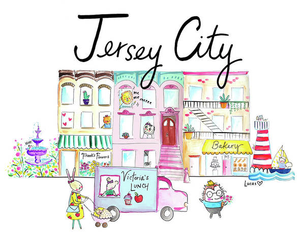 Animal Watercolor Wall Art - Painting - Jersey City by Ashley Lucas
