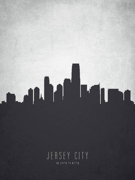 Wall Art - Painting - Jersey City New Jersey Cityscape 19 by Aged Pixel