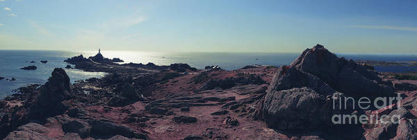 Photograph - Jersey Island, Panorama Of Lighthouse Corbiere  by Ariadna De Raadt