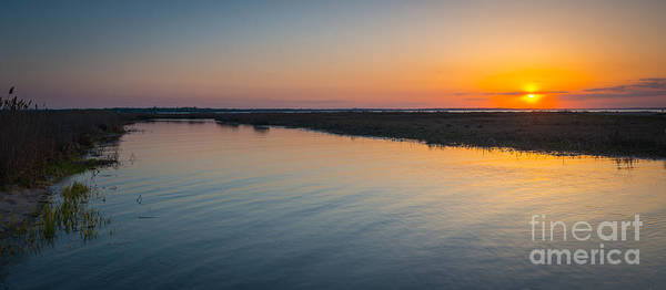 Marshland Photograph - Jersey Marsh Sunset by Michael Ver Sprill