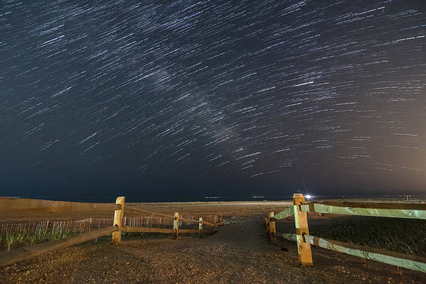 Star Trails Photograph - Jersey Shore Nights by Kristopher Schoenleber