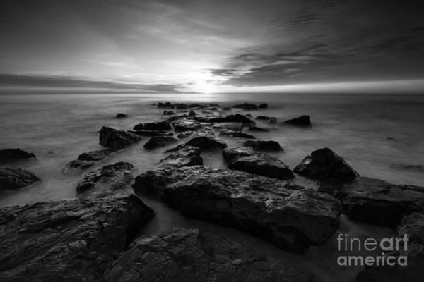 Mv Photograph - Jersey Shore Sunrise Bw by Michael Ver Sprill