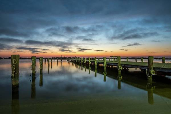 Down The Shore Photograph - Jersey Shore Sunset, Seaside Heights by Bob Cuthbert