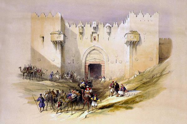 Israel Digital Art - Jerusalem Gate by Munir Alawi