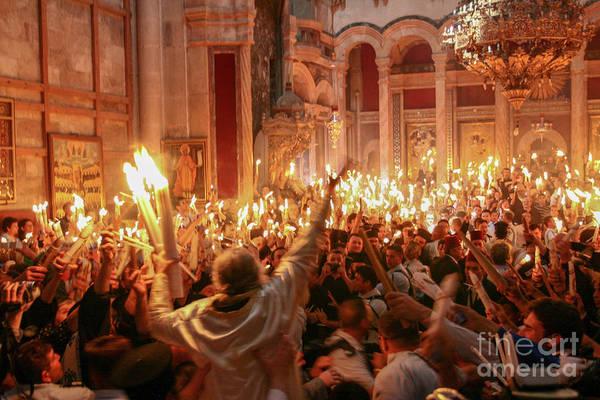 Church Of The Holy Sepulcher Photograph - Jerusalem, Holy Light Ceremony 3 by Harel Stanton