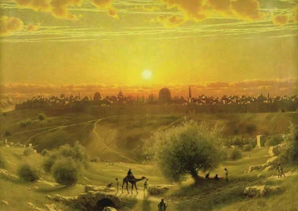 Wall Art - Painting - Jerusalem  by James Fairman