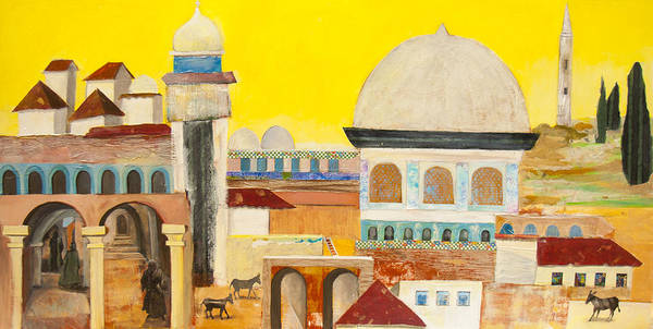 Mixed Media - Jerusalem by Jillian Goldberg