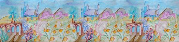 Wall Art - Digital Art - Jerusalem Of Hope-watercolor by Sandrine Kespi