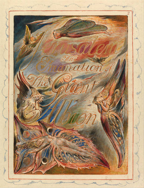 William Blake Drawing - Jerusalem. Plate 2. Title Page by William Blake