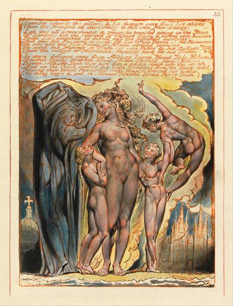 William Blake Drawing - Jerusalem. Plate 32 by William Blake