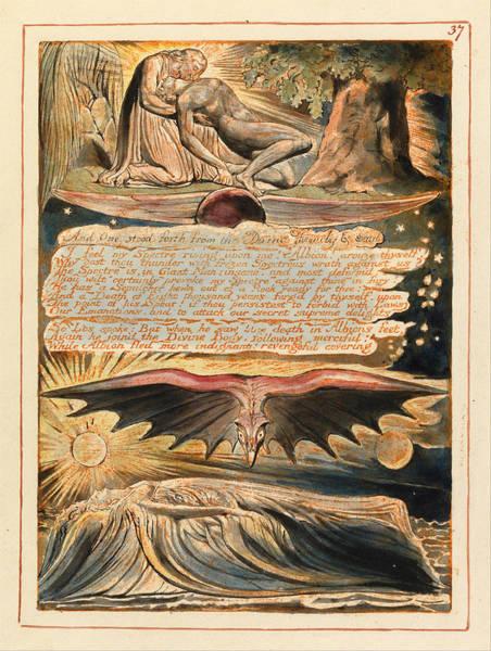 William Blake Drawing - Jerusalem. Plate 37 by William Blake