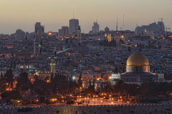 Church Of The Holy Sepulcher Photograph - Jerusalem Sunset by Jos Mosis