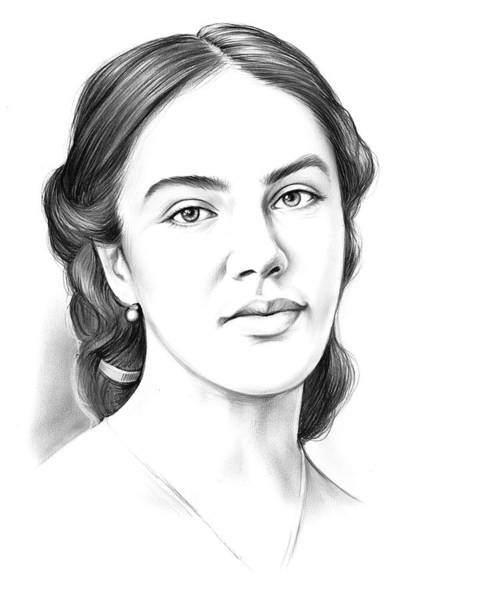 Actress Drawing - Jessica Findlay by Greg Joens