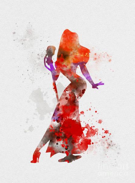 Wall Art - Mixed Media - Jessica Rabbit by My Inspiration