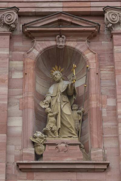 Angel Of Peace Photograph - Jesuit Church Christ Statue 2 by Teresa Mucha