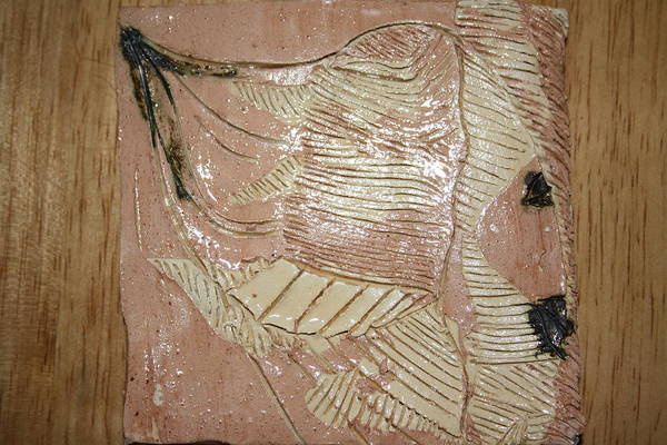 Ceramic Art - Jesus - Tile by Gloria Ssali