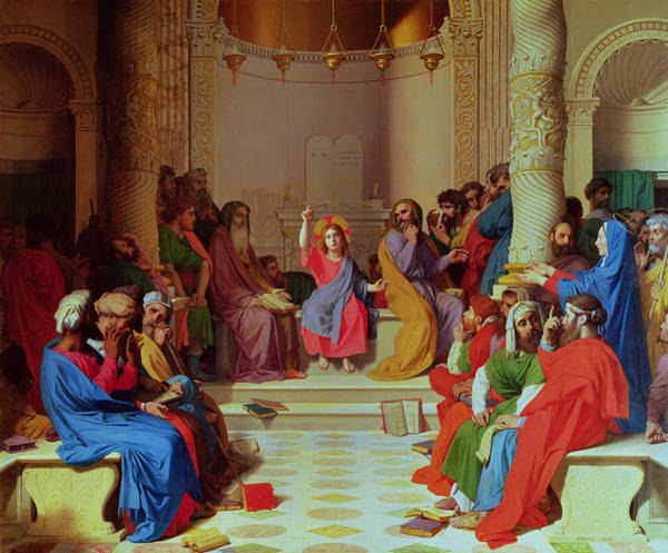 The Elder Painting - Jesus Among The Doctors by Ingres