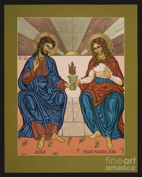 Painting - Jesus And Mary Magdalene - Lwjam by Lewis Williams OFS