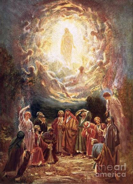 Jesus Ascending Into Heaven Art Print