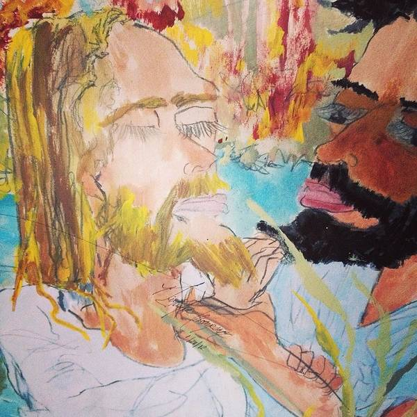 Love Painting - Jesus Baptism by Love Art Wonders By God