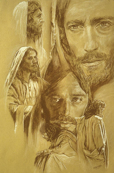 Holy Ghost Drawing - Jesus by Bryan Dechter