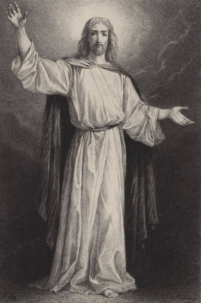 Christian Drawing - Jesus Christ by Albert Robida