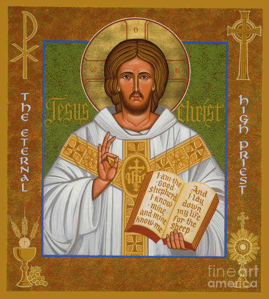 Painting - Jesus Christ - Eternal High Priest - Jchpr by Joan Cole