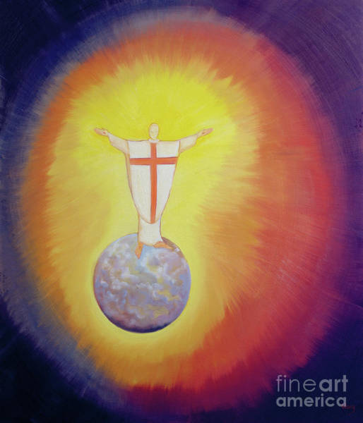 Wall Art - Painting - Jesus Christ Is Our High Priest Who Unites Earth With Heaven by Elizabeth Wang
