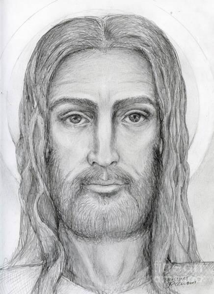 Drawing - Jesus Christ by Jo Thomas Blaine