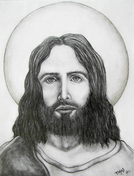 Drawing - Jesus Christ by Michael  TMAD Finney
