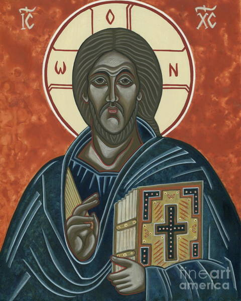 Greek Icon Painting - Jesus Christ Pantocrator Icon by Danielle Tayabas