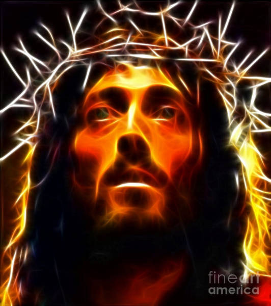 Crucifiction Wall Art - Mixed Media - Jesus Christ The Savior by Pamela Johnson
